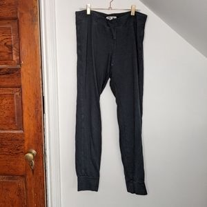 AMERICAN GIANT Washed Black Cotton/Modal Sweatpant